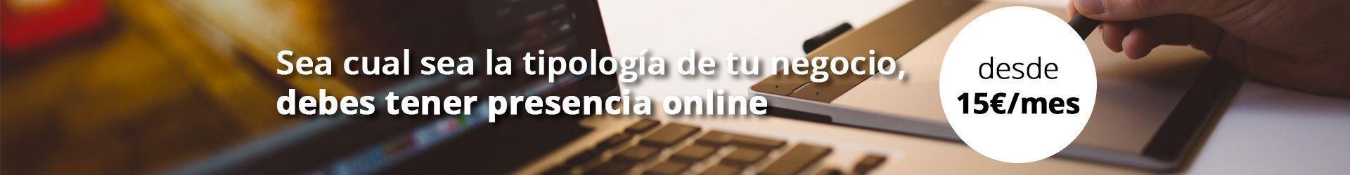 Consigue tu web desde 15 euros al mes